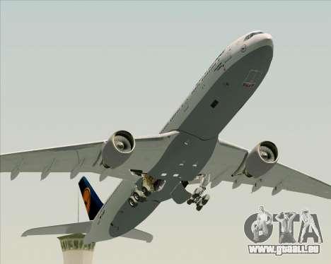 Airbus A330-300 Lufthansa für GTA San Andreas Unteransicht