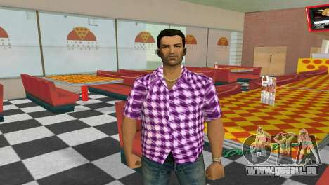Kockas polo - rozsaszin T-Shirt für GTA Vice City zweiten Screenshot