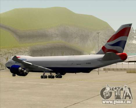 Boeing 747-8 Cargo British Airways World Cargo pour GTA San Andreas vue de dessus