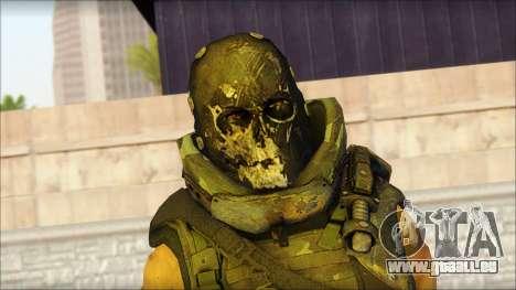 Claude Resurrection Skin from COD 5 v2 pour GTA San Andreas troisième écran
