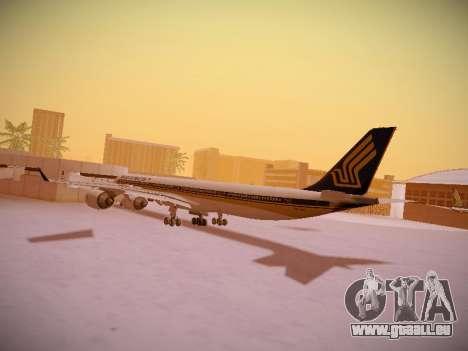 Airbus A340-600 Singapore Airlines für GTA San Andreas Unteransicht