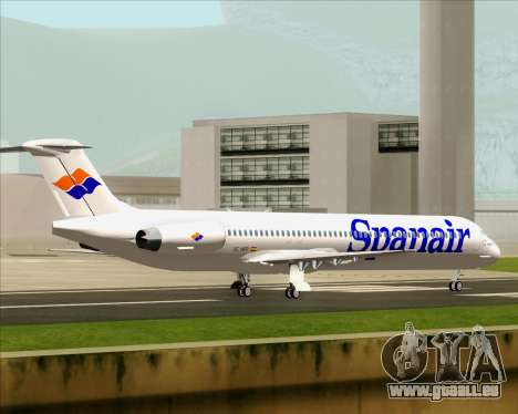 McDonnell Douglas MD-82 Spanair pour GTA San Andreas vue intérieure