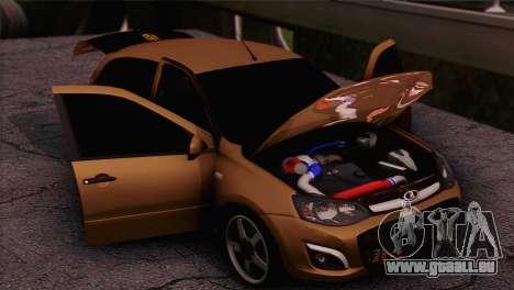 Lada Kalina 2 Wagen für GTA San Andreas zurück linke Ansicht