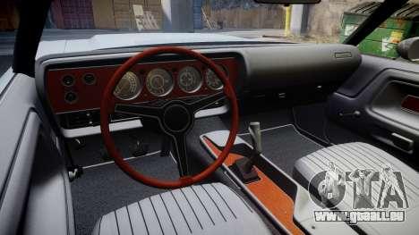 Dodge Challenger 1971 v2.2 PJ1 pour GTA 4 Vue arrière
