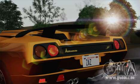 Lamborghini Diablo SV 1995 (HQLM) pour GTA San Andreas vue arrière