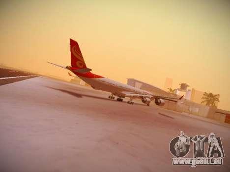 Airbus A340-600 Hainan Airlines für GTA San Andreas Rückansicht