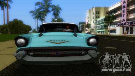 Chevrolet BelAir 1957 pour une vue GTA Vice City de la droite