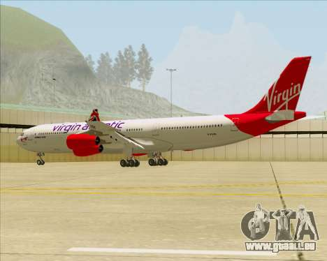 Airbus A340-313 Virgin Atlantic Airways für GTA San Andreas Unteransicht