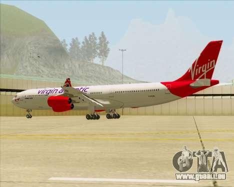 Airbus A340-313 Virgin Atlantic Airways für GTA San Andreas Unteransicht