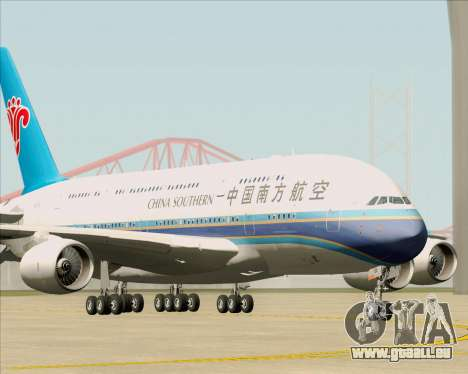 Airbus A380-841 China Southern Airlines für GTA San Andreas linke Ansicht