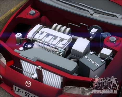 Mazda 323F 1995 pour GTA San Andreas vue arrière