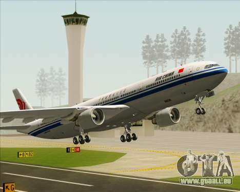 Airbus A330-300 Air China pour GTA San Andreas roue