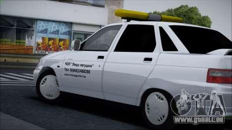 VAZ 2110 Visage de Grenouille pour GTA San Andreas vue arrière