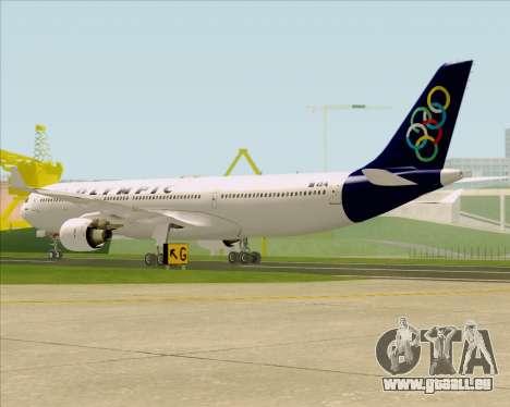 Airbus A330-300 Olympic Airlines pour GTA San Andreas vue de droite