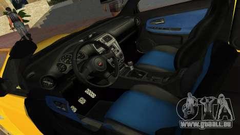 Subaru Impreza WRX STI 2006 Type 4 für GTA Vice City rechten Ansicht