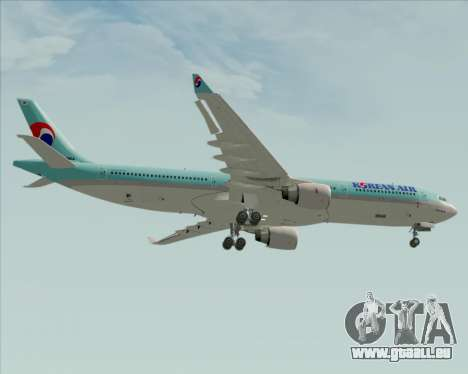 Airbus A330-300 Korean Air für GTA San Andreas Unteransicht