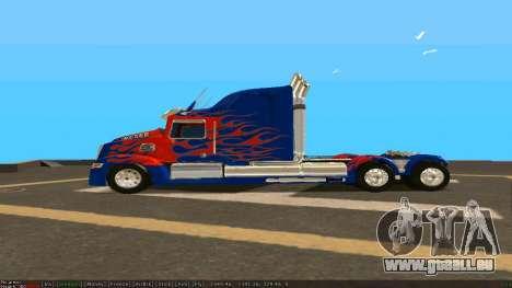 Peterbilt 379 Optimus Prime für GTA San Andreas linke Ansicht