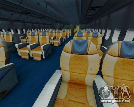 Airbus A380-841 Emirates für GTA San Andreas obere Ansicht