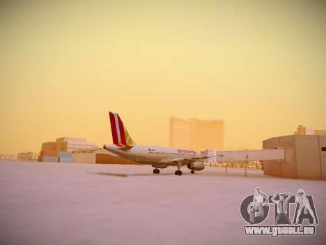 Airbus A319-132 Germanwings pour GTA San Andreas vue de droite