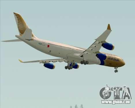Airbus A340-313 Gulf Air pour GTA San Andreas vue de dessus