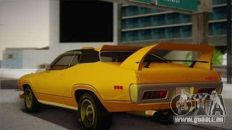 Plymouth GTX Tuned 1972 v2.3 pour GTA San Andreas laissé vue