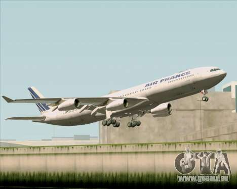 Airbus A340-313 Air France (Old Livery) pour GTA San Andreas vue intérieure
