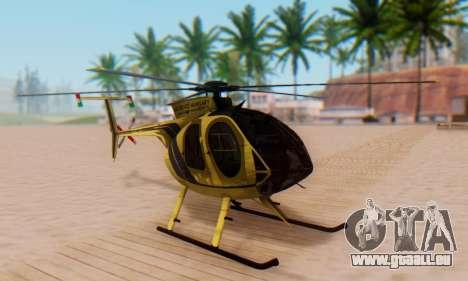 Le MD500E hélicoptère v2 pour GTA San Andreas