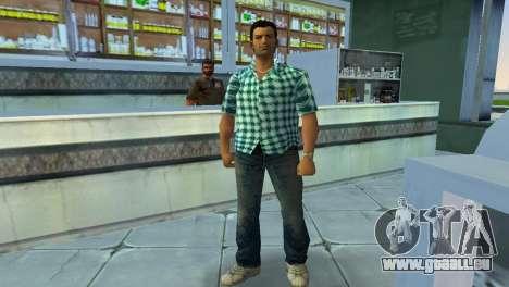 Kockas polo - vilagoskek T-Shirt für GTA Vice City zweiten Screenshot