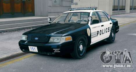 Ford Crown Victoria LCPD [ELS] No Pushbar pour GTA 4