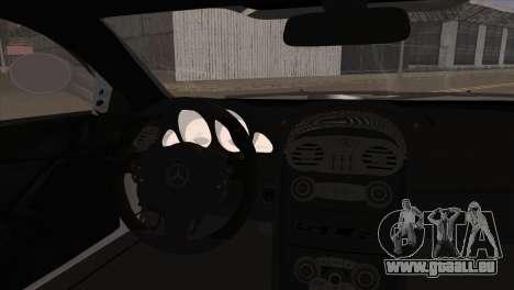 Mercedes-Benz SLR 722 pour GTA San Andreas sur la vue arrière gauche