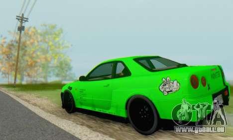 Nissan Skyline GT-R 34 für GTA San Andreas rechten Ansicht
