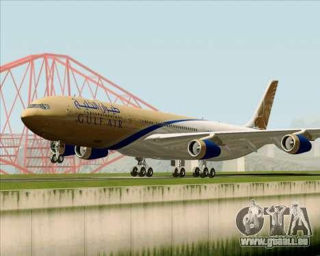 Airbus A340-313 Gulf Air pour GTA San Andreas laissé vue