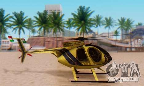 Die MD500E Hubschrauber v2 für GTA San Andreas linke Ansicht