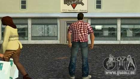 Kockas polo - piros T-Shirt GTA Vice City pour la deuxième capture d'écran