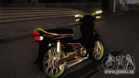 Honda Astrea pour GTA San Andreas sur la vue arrière gauche