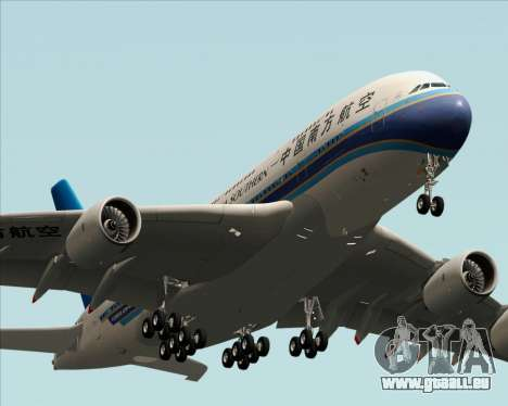Airbus A380-841 China Southern Airlines pour GTA San Andreas vue intérieure
