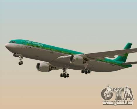 Airbus A330-300 Aer Lingus für GTA San Andreas Rückansicht