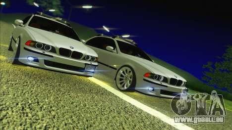 BMW M5 E39 2003 Stance für GTA San Andreas Rückansicht