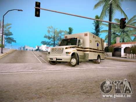Pierce Commercial Grasonville Ambulance für GTA San Andreas linke Ansicht