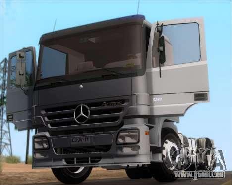 Mercedes-Benz Actros 3241 pour GTA San Andreas vue intérieure