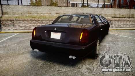 GTA V Albany Washington Limousine für GTA 4 hinten links Ansicht