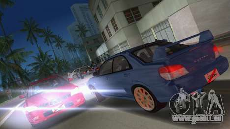 Subaru Impreza WRX STI 2006 Type 1 pour GTA Vice City vue latérale