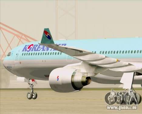 Airbus A330-300 Korean Air für GTA San Andreas Innenansicht
