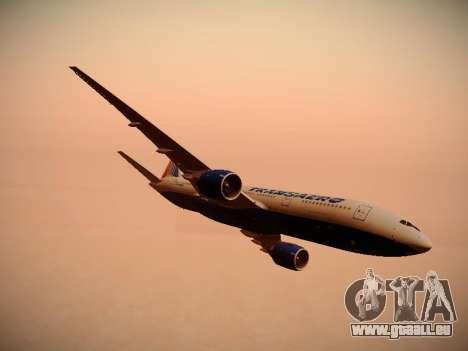 Boeing 777-212ER Transaero Airlines pour GTA San Andreas moteur