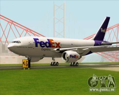 Airbus A310-300 Federal Express pour GTA San Andreas sur la vue arrière gauche