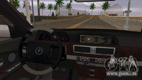 BMW E66 7-Series Limousine pour GTA San Andreas vue de droite