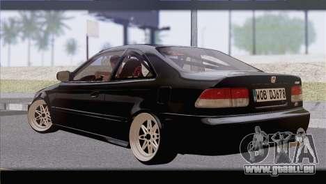 Honda Civic EM1 pour GTA San Andreas laissé vue