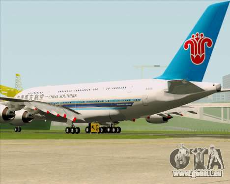 Airbus A380-841 China Southern Airlines für GTA San Andreas rechten Ansicht