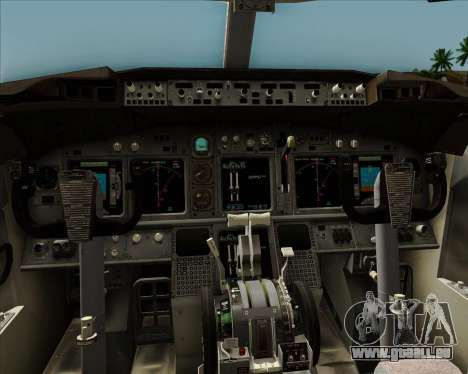 Boeing 737-8AS Ryanair für GTA San Andreas Innen