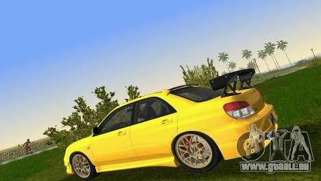 Subaru Impreza WRX STI 2006 Type 4 für GTA Vice City Innenansicht